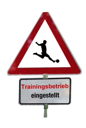 Trainingsstop fussball